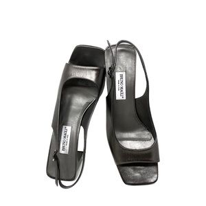 Bruno Magli Italian Leather Square Toe Sandal